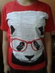 kaos wanita panda glass