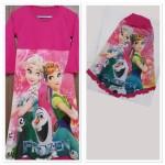 Gamis Frozen untuk anak perempuan