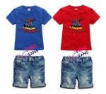 mini jeans blue and red 2 pcs