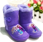 boot frozen purple